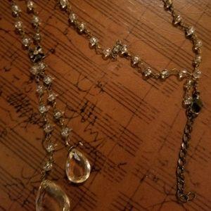 Jewelry - Necklace,  Smoky Quartz Beaded w/2 Teardrops